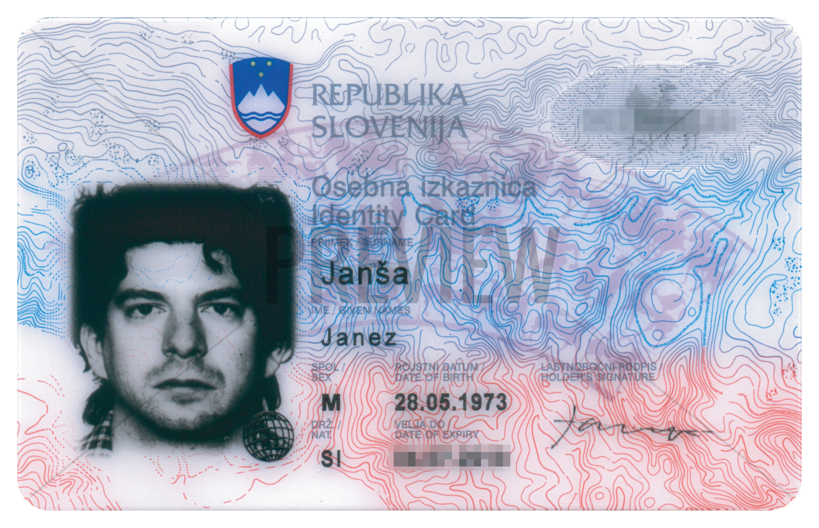 002293264 (Identity Card), Ljubljana, 2007. Print on plastic