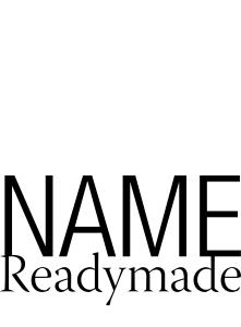 NAME Readymade_Book Cover