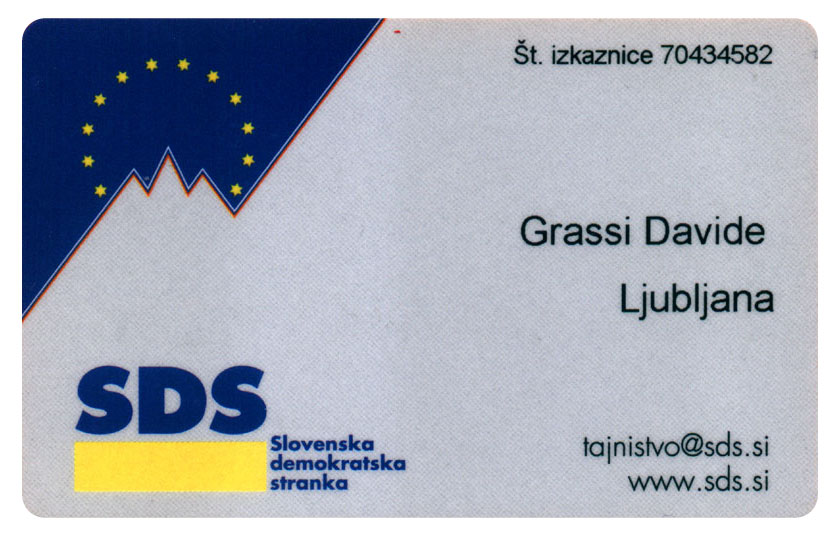 SDS membership card