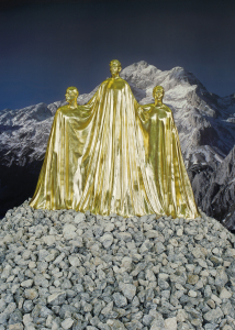 Monument to the National Contemporary Art (Golden Triglav), Gilded sculpture, Steirischer Herbst, Forum Stadtpark, Graz, 2008 Photo: Peter Rauch