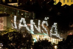 Signature (Kunsthaus Graz), Steirischer Herbst, Festival of new art, Kunsthaus Graz, 2008. Photo: Peter Rauch